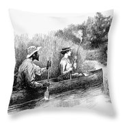 Alligator Hunt, 1888 Throw Pillow