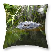 Alligator Hunting Throw Pillow