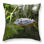 Alligator Hunting Throw Pillow