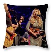 Allison Krauss With Jamey Johnson Throw Pillow