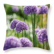 Allium 5 Throw Pillow