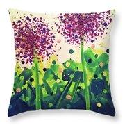 Allium Explosion Throw Pillow