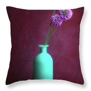 Allium Medusa Flower Throw Pillow