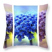 Allium Triptych Throw Pillow
