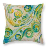 Allowing The Movement And Accepting Playful Dance. Throw Pillow