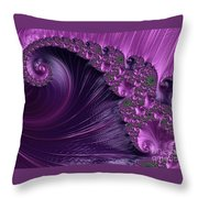 Alluring Purple Spiral Throw Pillow