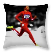 Allyson Felix Ahead Of The Pack Throw Pillow