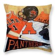 Alma High School Athletics Throw Pillow