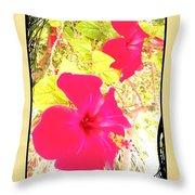 Almeria Flowers Throw Pillow