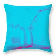 Almond And Cherry Blossoms 1 Throw Pillow