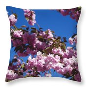 Almond Flowers Throw Pillow