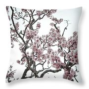 Almond Tree In Flower Throw Pillow