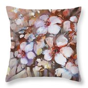 Almonds Blossom  2 Throw Pillow