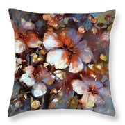 Almonds Blossom  3 Throw Pillow