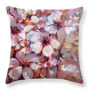 Almonds Blossom  6 Throw Pillow