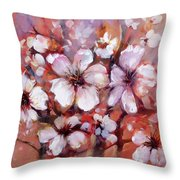 Almonds Blossom  8 Throw Pillow
