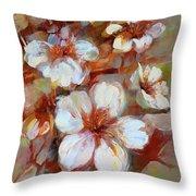 Almonds Blossom1 Throw Pillow
