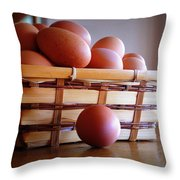 Almost All My Eggs In One Basket Throw Pillow