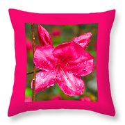 Almost April Showers Azalea Throw Pillow