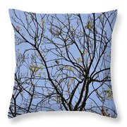 Almost Bare With Bird I Throw Pillow