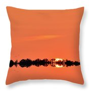 Almost Below The Horizon Two  Throw Pillow