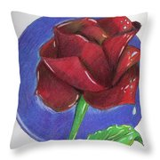 Almost Black Rose Throw Pillow