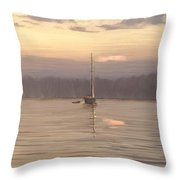 Almost Daytime On The Waters Throw Pillow