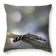 Almost Flat Lines Throw Pillow
