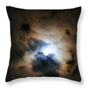 Almost Full Moon 2 Throw Pillow