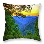 Almost Heaven - West Virginia 3 - Paint Throw Pillow