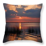 Almost Sunset In Florida Throw Pillow