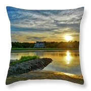 Almost Sunset In Pawleys Island Throw Pillow