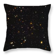 Almost Ten Thousand Galaxies As Seen By Hubble Throw Pillow