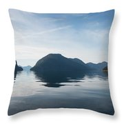 Almost To Shearwater Throw Pillow