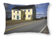 Alna Meetinghouse - Alna Maine Usa Throw Pillow