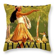 Aloha Hawaii, Hula Girl Dance Throw Pillow