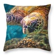 Aloha Honu Throw Pillow
