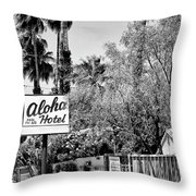 Aloha Hotel Bw Palm Springs Throw Pillow