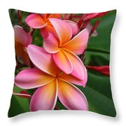 Aloha Lei Pua Melia Keanae Throw Pillow