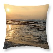 Aloha Oe Sunset Hookipa Beach Maui North Shore Hawaii Throw Pillow
