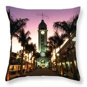 Aloha Tower Marketplace Throw Pillow