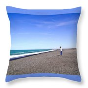 Alone And At Peace Throw Pillow