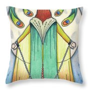 Alone At Moonrise Throw Pillow by Amy S Turner