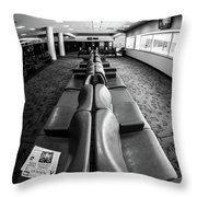 Alone At The Airline Gate Throw Pillow