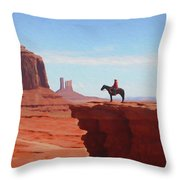 Alone At The Top Throw Pillow