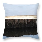 Alone But Strong Throw Pillow