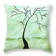 Alone I Waited Throw Pillow