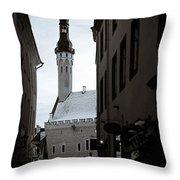 Alone In Tallinn Throw Pillow by Dave Bowman
