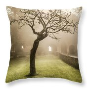 Alone In The Fog Throw Pillow