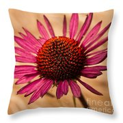 Alone In The Grass Throw Pillow